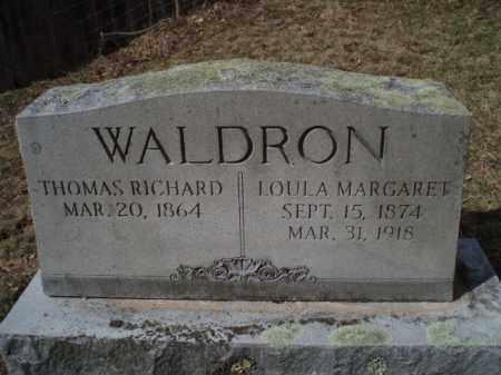 WALDRON, THOMAS RICHARD - Tazewell County, Virginia | THOMAS RICHARD WALDRON - Virginia Gravestone Photos