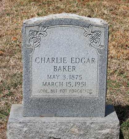 BAKER, CHARLIE EDGAR - Warren County, Virginia | CHARLIE EDGAR BAKER - Virginia Gravestone Photos