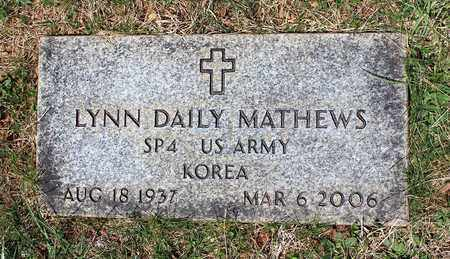 MATHEWS, LYNN DAILY - Warren County, Virginia | LYNN DAILY MATHEWS - Virginia Gravestone Photos