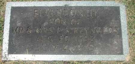 "REYNOLDS, ELVERSON HENDERSON ""E.H."" - Washington County, Virginia 