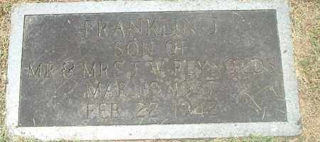 REYNOLDS, FRANKLIN J - Washington County, Virginia | FRANKLIN J REYNOLDS - Virginia Gravestone Photos