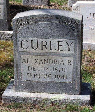 CURLEY, ALEXANDRIA B. - Westmoreland County, Virginia | ALEXANDRIA B. CURLEY - Virginia Gravestone Photos