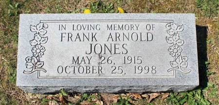 JONES, FRANK ARNOLD - Westmoreland County, Virginia | FRANK ARNOLD JONES - Virginia Gravestone Photos