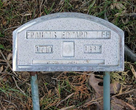 LEE, FRANCIS EDWARD - Westmoreland County, Virginia   FRANCIS EDWARD LEE - Virginia Gravestone Photos