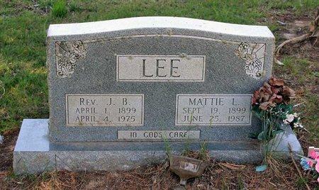 LEE, MATTIE L. - Westmoreland County, Virginia | MATTIE L. LEE - Virginia Gravestone Photos