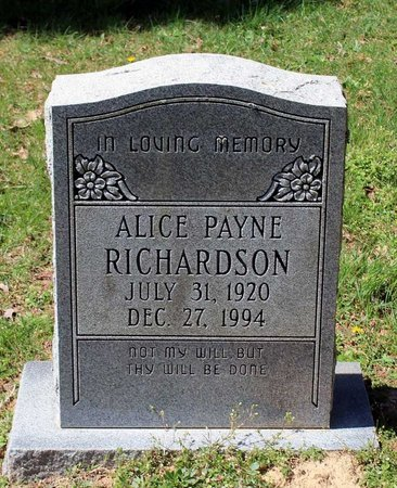 RICHARDSON, ALICE - Westmoreland County, Virginia | ALICE RICHARDSON - Virginia Gravestone Photos