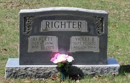 RIGHTER, BURDETT - Westmoreland County, Virginia | BURDETT RIGHTER - Virginia Gravestone Photos