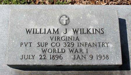 WILKINS, WILLIAM J. - Westmoreland County, Virginia | WILLIAM J. WILKINS - Virginia Gravestone Photos