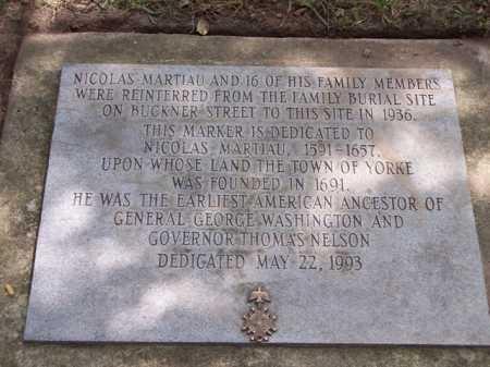 MARTIAU, NICHOLAS - York County, Virginia | NICHOLAS MARTIAU - Virginia Gravestone Photos