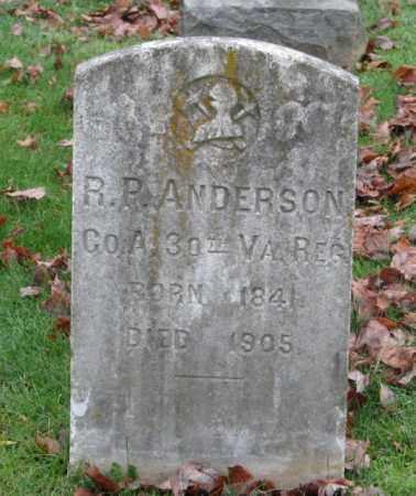 ANDERSON (CW), ROBERT P. - Fredericksburg (City of) County, Virginia | ROBERT P. ANDERSON (CW) - Virginia Gravestone Photos