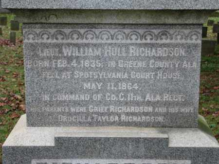 RICHARDSON (CW), WILLIAM HULL - Fredericksburg (City of) County, Virginia | WILLIAM HULL RICHARDSON (CW) - Virginia Gravestone Photos