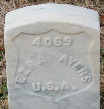 AYERS (CIVIL WAR UNION), EZRA F. - Hopewell (City of) County, Virginia | EZRA F. AYERS (CIVIL WAR UNION) - Virginia Gravestone Photos