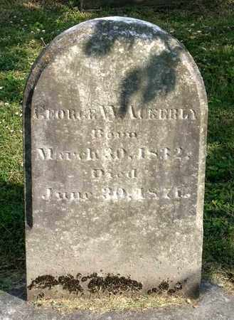 ACKERLY, GEORGE W. - Lexington (City of) County, Virginia | GEORGE W. ACKERLY - Virginia Gravestone Photos