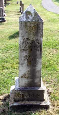 FRANKLIN, ANNIE J. - Lexington (City of) County, Virginia | ANNIE J. FRANKLIN - Virginia Gravestone Photos