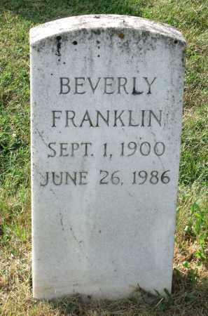 FRANKLIN, BEVERLY - Lexington (City of) County, Virginia | BEVERLY FRANKLIN - Virginia Gravestone Photos