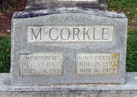 MCCORKLE, NINA - Lexington (City of) County, Virginia | NINA MCCORKLE - Virginia Gravestone Photos