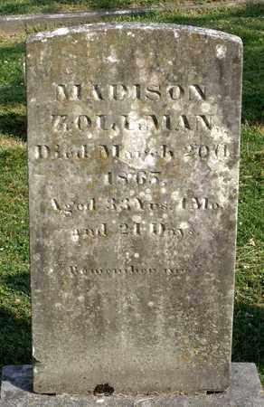 ZOLLMAN, MADISON - Lexington (City of) County, Virginia   MADISON ZOLLMAN - Virginia Gravestone Photos
