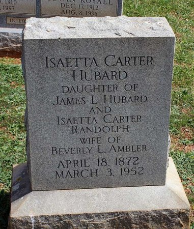 HUBARD AMBLER, ISAETTA CARTER - Lynchburg (City of) County, Virginia | ISAETTA CARTER HUBARD AMBLER - Virginia Gravestone Photos