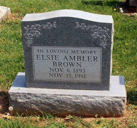 AMBLER BROWN, ELSIE - Lynchburg (City of) County, Virginia | ELSIE AMBLER BROWN - Virginia Gravestone Photos