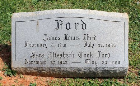 FORD, SARA ELIZABETH - Lynchburg (City of) County, Virginia | SARA ELIZABETH FORD - Virginia Gravestone Photos