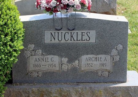 NUCKLES, ANNIE G. - Lynchburg (City of) County, Virginia | ANNIE G. NUCKLES - Virginia Gravestone Photos