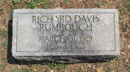 RUMBOUGH, RICHARD DAVIS - Lynchburg (City of) County, Virginia | RICHARD DAVIS RUMBOUGH - Virginia Gravestone Photos
