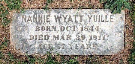 WYATT YUILLE, NANNIE - Lynchburg (City of) County, Virginia | NANNIE WYATT YUILLE - Virginia Gravestone Photos