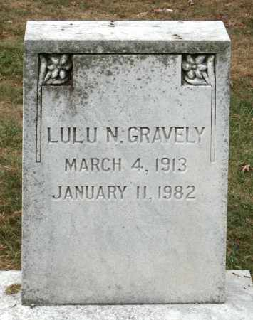 GRAVELY, LULU N. - Martinsville (City of) County, Virginia | LULU N. GRAVELY - Virginia Gravestone Photos