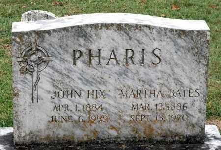 BATES PHARIS, MARTHA - Martinsville (City of) County, Virginia | MARTHA BATES PHARIS - Virginia Gravestone Photos