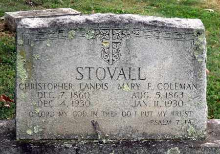 COLEMAN STOVAL, MARY F. - Martinsville (City of) County, Virginia   MARY F. COLEMAN STOVAL - Virginia Gravestone Photos