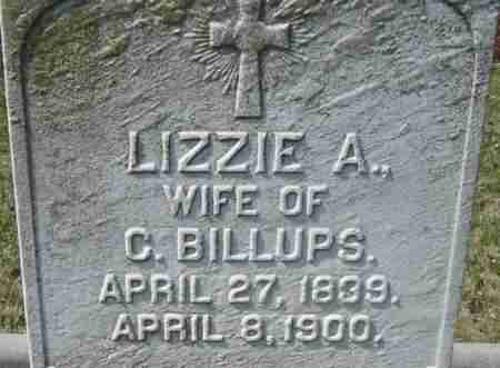 BILLUPS, LIZZIE A - Norfolk (City of) County, Virginia | LIZZIE A BILLUPS - Virginia Gravestone Photos