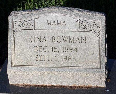 BOWMAN, LONA - Norfolk (City of) County, Virginia | LONA BOWMAN - Virginia Gravestone Photos