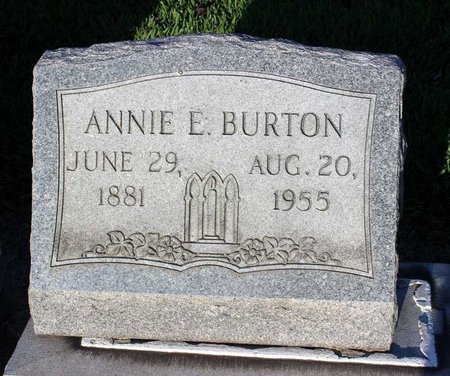 BURTON, ANNIE E. - Norfolk (City of) County, Virginia | ANNIE E. BURTON - Virginia Gravestone Photos