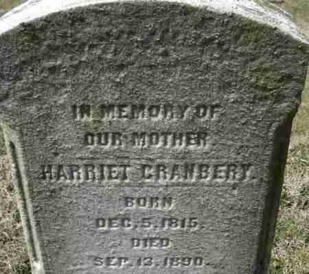 CRANBERY, HARRIET - Norfolk (City of) County, Virginia   HARRIET CRANBERY - Virginia Gravestone Photos