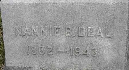 DEAL, NANNIE B - Norfolk (City of) County, Virginia | NANNIE B DEAL - Virginia Gravestone Photos