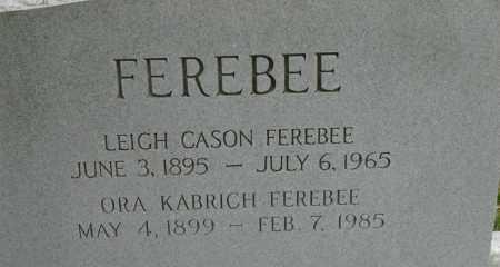 FEREBEE, LEIGH CASON - Norfolk (City of) County, Virginia | LEIGH CASON FEREBEE - Virginia Gravestone Photos