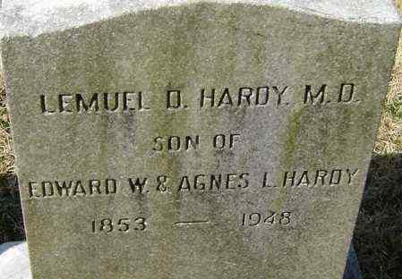 HARDY, LEMUEL D - Norfolk (City of) County, Virginia | LEMUEL D HARDY - Virginia Gravestone Photos