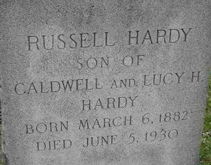 HARDY, RUSSELL - Norfolk (City of) County, Virginia | RUSSELL HARDY - Virginia Gravestone Photos