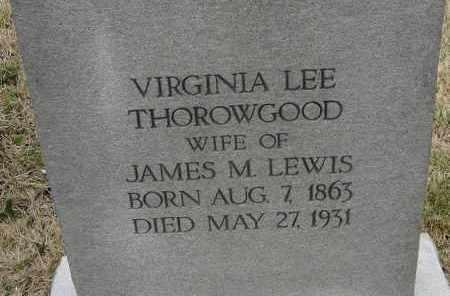 LEWIS, VIRGINIA LEE - Norfolk (City of) County, Virginia | VIRGINIA LEE LEWIS - Virginia Gravestone Photos