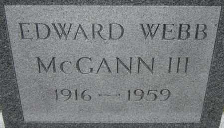 MCGANN, EDWARD WEBB III - Norfolk (City of) County, Virginia | EDWARD WEBB III MCGANN - Virginia Gravestone Photos