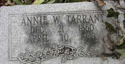 TARRANT, ANNIE W - Norfolk (City of) County, Virginia | ANNIE W TARRANT - Virginia Gravestone Photos