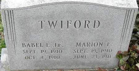 TWIFORD, MARION F - Norfolk (City of) County, Virginia | MARION F TWIFORD - Virginia Gravestone Photos
