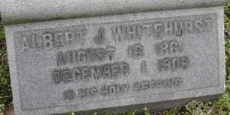 WHITEHURST, ALBERT J - Norfolk (City of) County, Virginia   ALBERT J WHITEHURST - Virginia Gravestone Photos