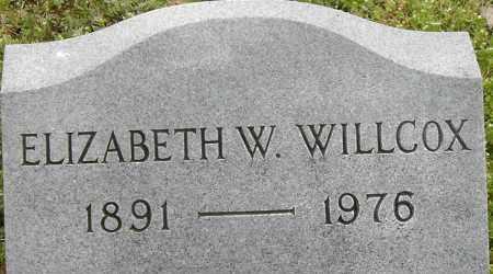 WILLCOX, ELIZABETH W - Norfolk (City of) County, Virginia | ELIZABETH W WILLCOX - Virginia Gravestone Photos