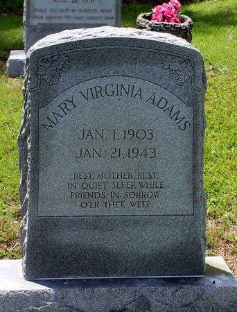 ADAMS, MARY VIRGINIA - Poquoson (City of) County, Virginia | MARY VIRGINIA ADAMS - Virginia Gravestone Photos