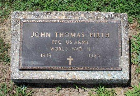 FIRTH, JOHN THOMAS - Poquoson (City of) County, Virginia | JOHN THOMAS FIRTH - Virginia Gravestone Photos