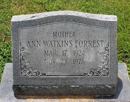 WATKINS FORREST, ANN - Poquoson (City of) County, Virginia | ANN WATKINS FORREST - Virginia Gravestone Photos