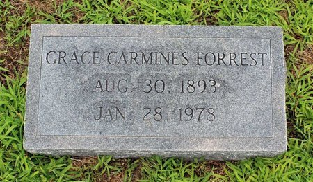 CARMINES FORREST, GRACE - Poquoson (City of) County, Virginia | GRACE CARMINES FORREST - Virginia Gravestone Photos
