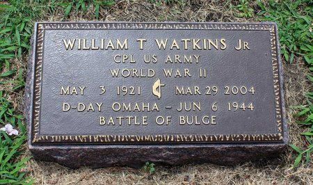 WATKINS, WILLIAM T. JR. - Poquoson (City of) County, Virginia | WILLIAM T. JR. WATKINS - Virginia Gravestone Photos