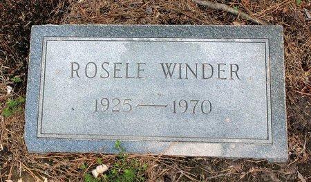 WINDER, ROSELE - Poquoson (City of) County, Virginia   ROSELE WINDER - Virginia Gravestone Photos
